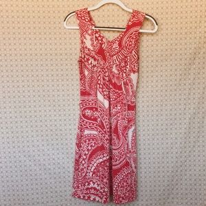 Lilly Pulitzer V Neck Pink Print Silk Dress